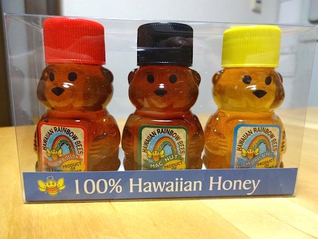 ミニサイズのハチミツ3種類